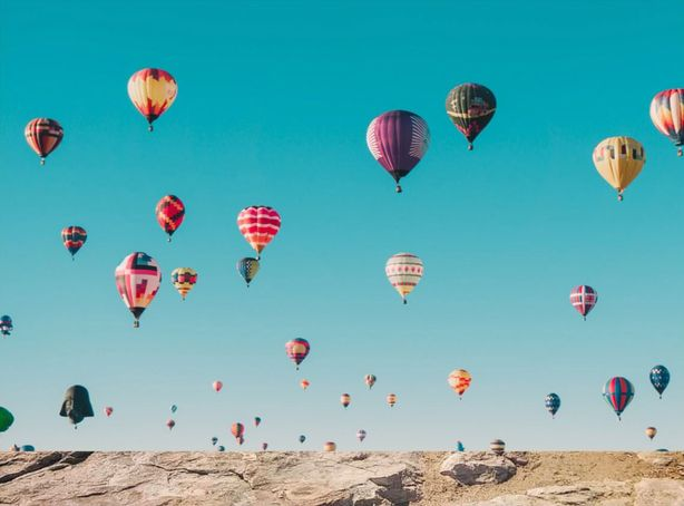 Boise Skyline Filled With Hot Air Balloons