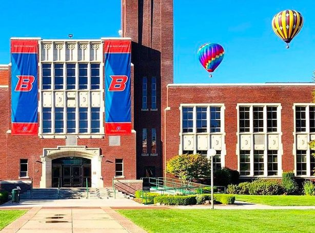 Boise State University with River Festival Balloons