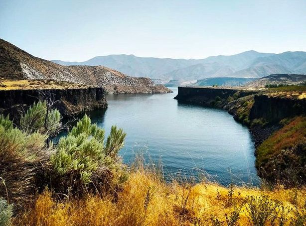 Lucky Peak Reservoir Looking West
